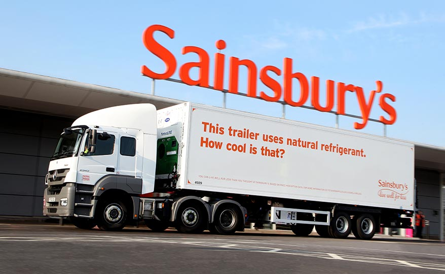 Sainsbury's refrigerated trailer that uses natural coolant